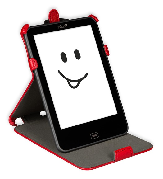 Etui support rouge pour e-reader Vision 2