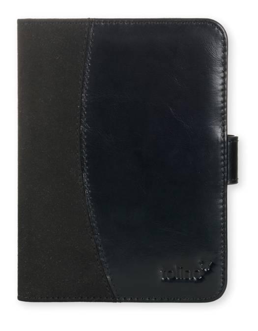 Etui ultra-fin cuir noir pour e-reader Vision 2