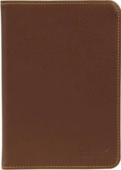 Etui cuir brun pour e-reader Shine 2 HD