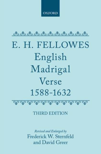 English Madrigal Verse 1588-1632