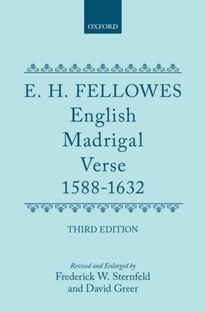 English Madrigal Verse 1588-1632