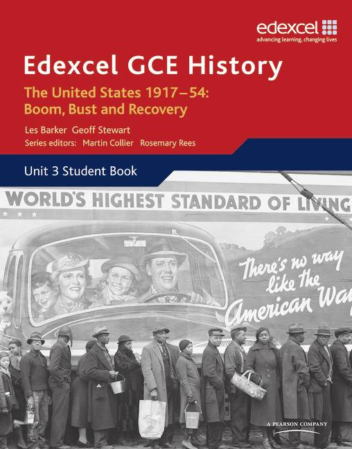 Edexcel GCE History A2 Unit 3 C2 The United States 1917-54: Boom Bust & Recovery