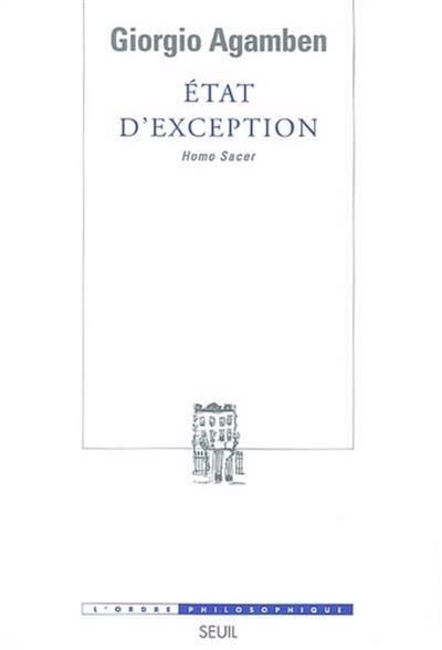 état D'exception ; Homo Sacer
