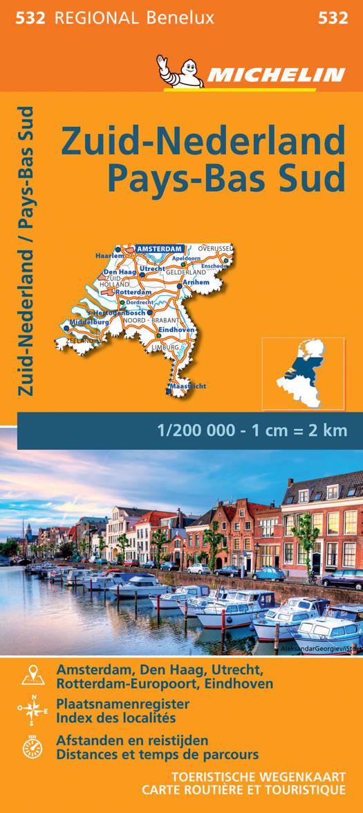 NEDERLAND ZUID / PAYS-BAS SUD 11532 CARTE ' REGIONAL ' MICHELIN KAART