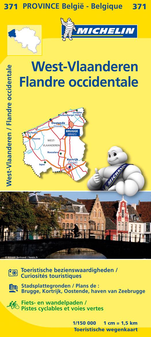 WEST-VLAANDEREN 11371 FLANDRE OCCIDENTALE CARTE PROV. BELG. MICHELIN KAART