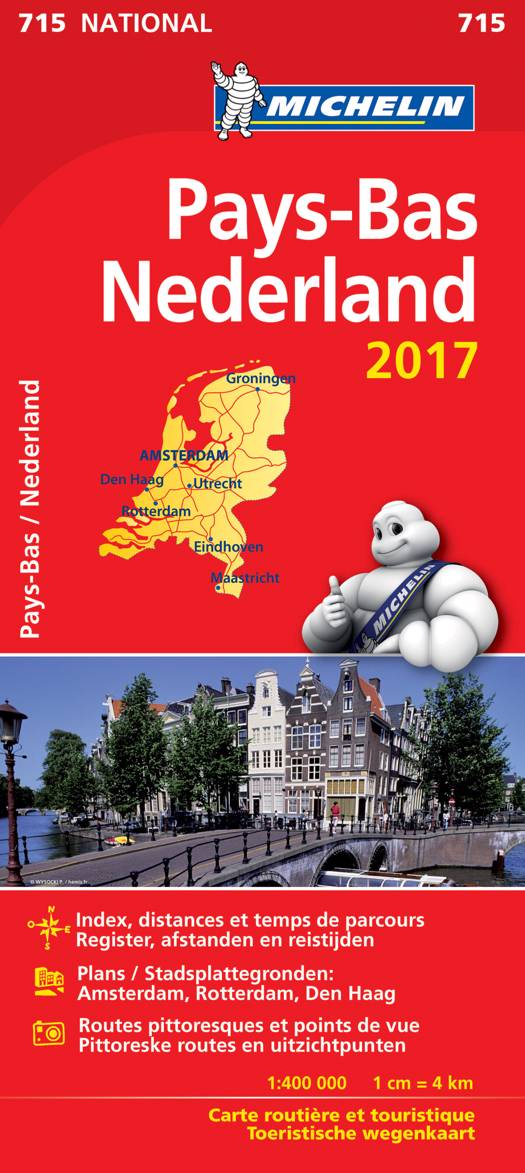 NEDERLAND / PAYS-BAS 11715 CARTE 'NATIONAL' 2017 MICHELIN KAART