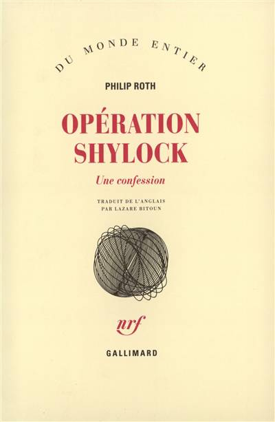 Operation Shylock (une Confession)