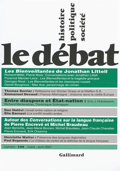 Revue Le Debat N.144 ; Mars-avril 2007
