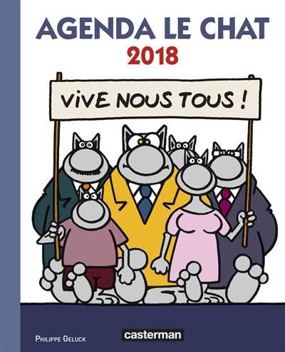 Agenda Le Chat 2018 : vive nous tous !