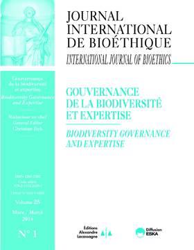 Gouvernance De La Biodiversité Et Expertise