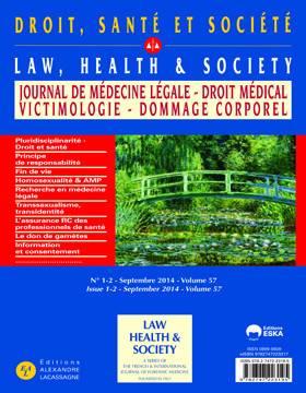 Droit-santé-société ; La Pluridisciplinarité Avec Le Droit Au Service De La Santé