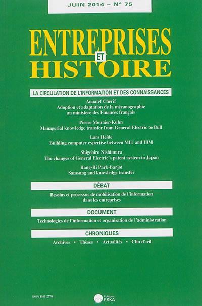 Entreprises Et Histoire N.75 ; Juin 2014 ; La Concentration Dans Les Assurances