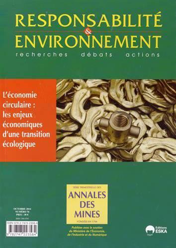 Revue Responsabilite & Environnement N.76 ; L'éditeur Circulaire