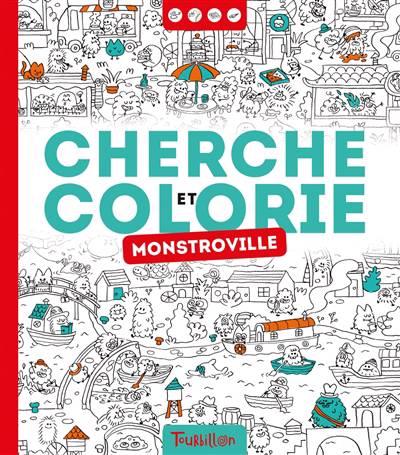 Cherche Et Trouve A Colorier - La Ville Des Monstres