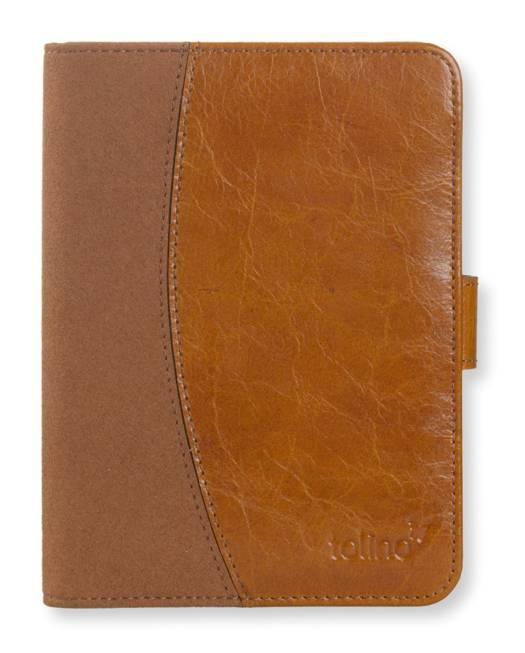 Etui ultra-fin cuir brun pour e-reader Vision 2