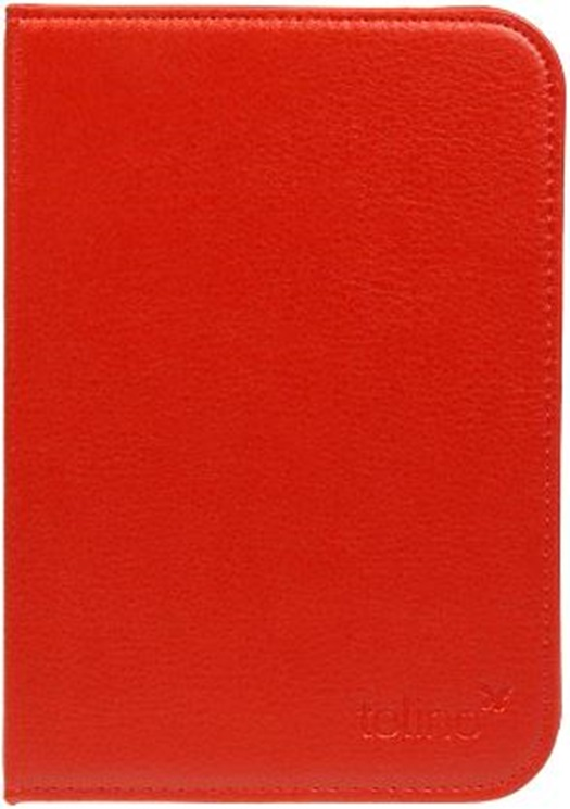 Etui luxe simili cuir rouge pour e-reader Shine 2 HD