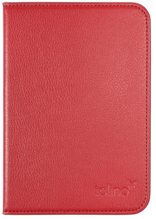 Etui luxe rouge pour e-reader Vision 4 HD
