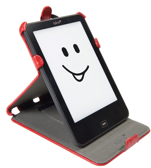 Etui support rouge pour e-reader Vision 4 HD