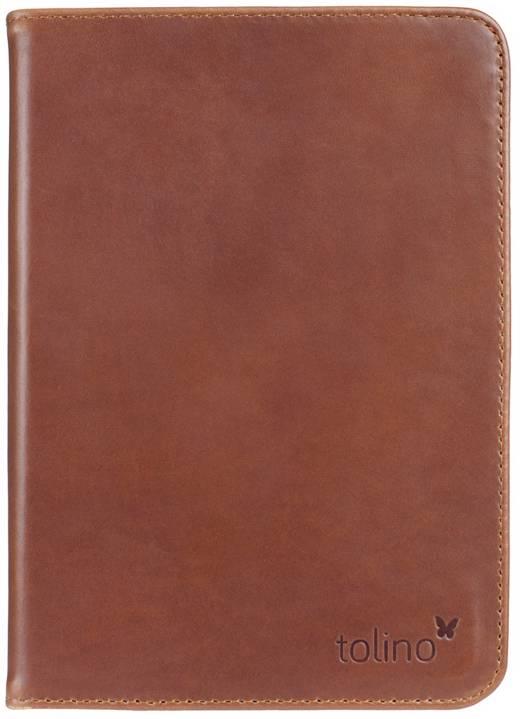 Etui cuir brun pour e-reader Vision 4 HD