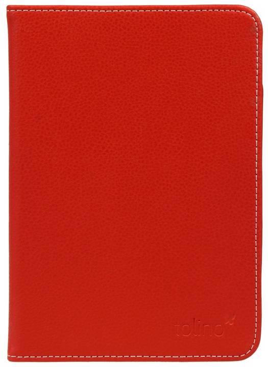 Etui cuir rouge pour e-reader Vision 4 HD