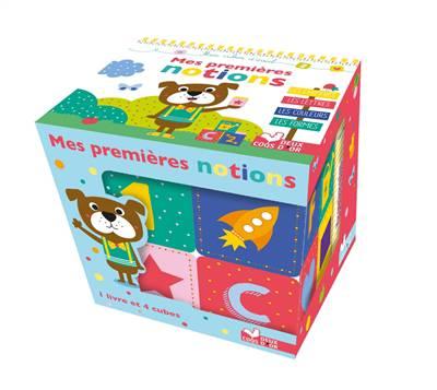 Mes Premières Notions ; Boîte Avec Cubes En Pvc Et Tout Carton
