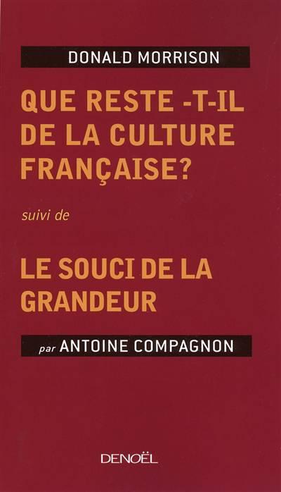 Que Reste-t-il De La Culture Française ? Le Souci De La Grandeur