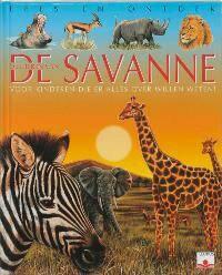 Lees en ontdek: De dieren van de savanne