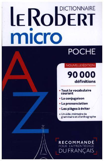 Dictionnaire Le Robert Micro (édition 2018)