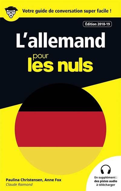L'allemand Pour Les Nuls (édition 2018/2019)