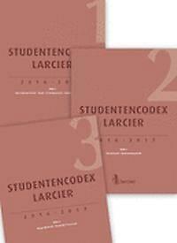 STUDENTENCODEX LARCIER RECHTSOPLEIDING 2016-2017 (3 boekdelen)