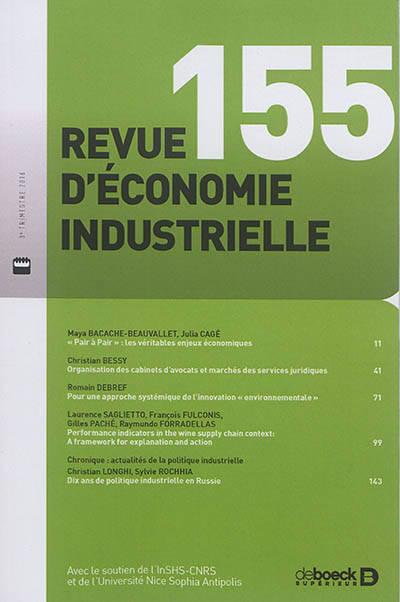 Revue D'economie Industrielle 2016/3 - 155