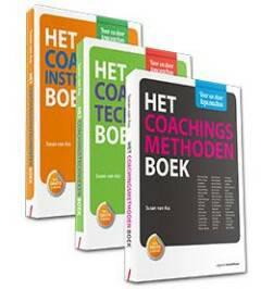 Basisboeken voor de coach, set 3 delen bevat: Het Coachingsmethoden Boek, Het Coachingstechnieken Boek, Het Coachingsinstrumenten Boek