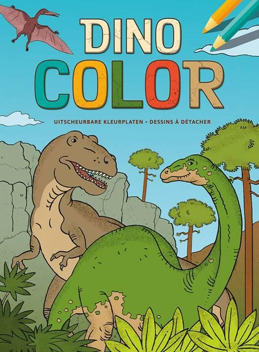Kleurplaten Dinosaur.Dino Color Kleurblok Dino Color Bloc De Coloriage Standaard