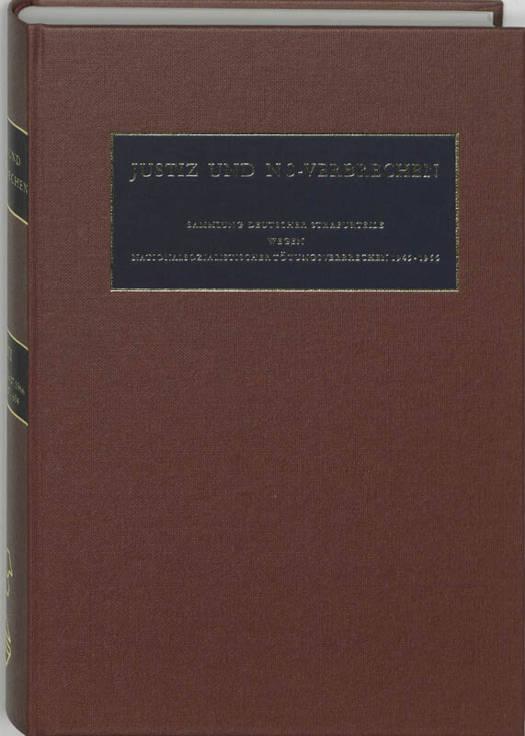 Justiz und NS-Verbrechen 23 01.01.1966 - 01.07.1966