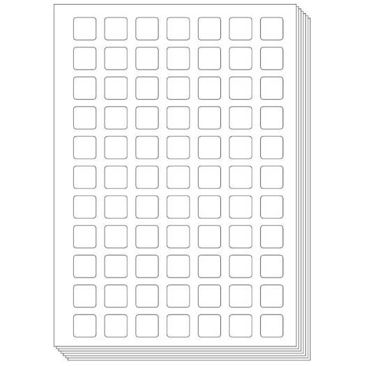 Pictogenda blanco stickervellen (10 stuks)